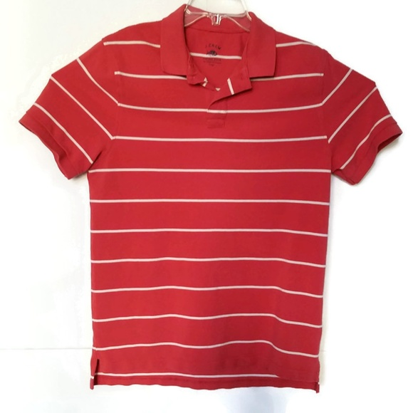 6ca8d55641a J. Crew Shirts | Jcrew Vintage Polo Striped Texture Cotton L Pms12 ...